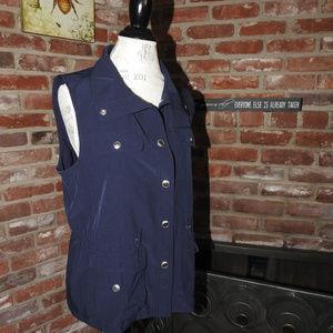 Chico's Zenergy Blue Vest Sz 1, Med